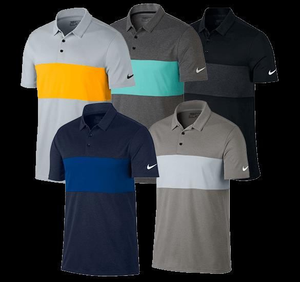 Nike Golf Breathe Colour Block Polo Shirt