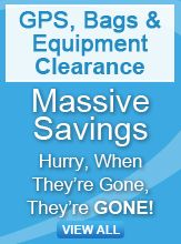 GPS, bags and equipment clearance banner