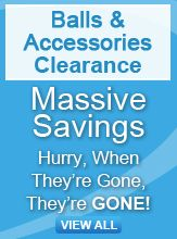 balls and accessories clearance banner