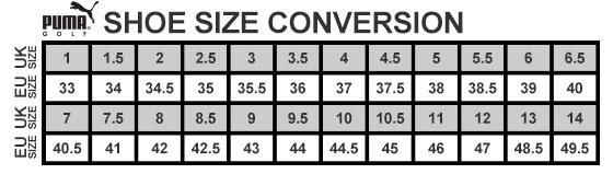 Puma Shoe Size Guide